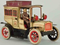 Guenthermann Tin-Oldtimer Rare limousine with clockwork...