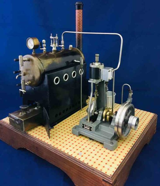 Ha-Mobil Hugo Augstburger Steam Toys-Horizontal Steam Engines Marine steam engine ST 18 of the brand