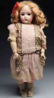 Hertel, Schwab & C0. Dolls Bisque socke head child doll,...