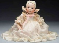 Heubach Gebr. Dolls Seldom found bisque socket head doll...