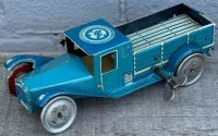 Alemanni Tin-Trucks Truck wind-up toy, made of tinplate...