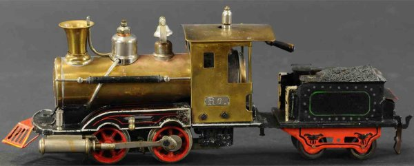 Maerklin Railway-Locomotives American spirit steam locomotive, hand-painted in black with