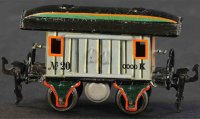 Maerklin Railway-Passenger Cars Baggage car No. 1823 with...
