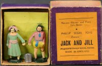 Phillip Segal Toys Cast-Iron Figures Jack & Jill figures....