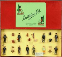 Britains Ltd. Toy Railway-Figures Station staff figures,...