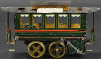 Plank Ernst Tin-Trams Hot air trolley with four wheels,...