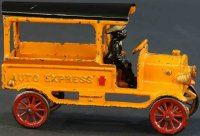 Hubley Cast-Iron trucks Auto express made of cast iron,...
