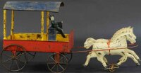 Brown George Tin-Carriages Open delivery wagon, large...