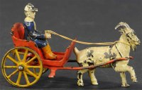 Harris Toy Co Cast-Iron-Carriages Small goat cart, cute...