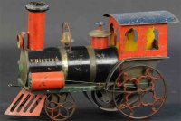 Ives Railway-Floor Train Whistler clockwork locomotive,...