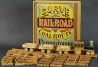 Shepherd CO Wood-Toys Curved coal railroad train, appears...