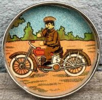 Unknown Tin-Penny Toy Harley-Davidson Motorcycle...