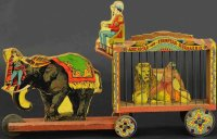 Bliss Rufus Wood-Carriages Large circus menagerie wagon....