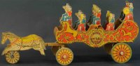 Reed Toy Co. Wood-Carriages Band chariot wagon. One of...