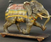 Unknown Wood-Animals Magnificent carousel elephant on...