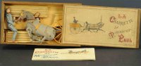 Unknown Papier-Spielzeug French boxed horse drawn trap....