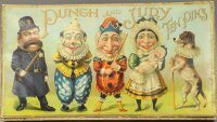 McLoughlin Brothers Wood-Figures Punch & Judy ten pins...