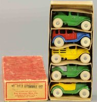 Kilgore Cast-Iron trucks Boxed automobile set #450-R,...