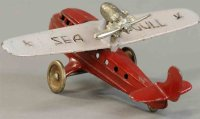 Kilgore Cast-Iron Airplanes SEAGULL plane of cast iron,...