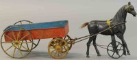 Ives Cast-Iron-Carriages Fast mail cart, cast iron...