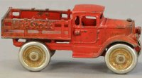 Kilgore Cast-Iron trucks Cast iron truck in red with...