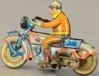 Ingap Tin-Motorcycles Motorcyclist with clockworkmade of...