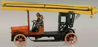 Guenthermann Tin-Fire-Truck Tin lithographed wind-up fire...