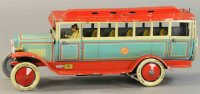 Distler Tin-Buses Tin wind-up large deluxe bus #3704...