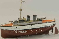 Fleischmann Tin-Ships Small gunboat, hand painted and all...