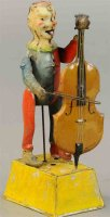 Guenthermann Tin-Clowns Clown playing cello made of hand...