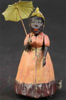 Eberl Hans Tin-Figures Walking woman with umbrella,...