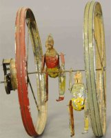 Guenthermann Tin-Clowns 2 Clowns with hoop, large toy,...