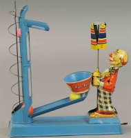 Levy George (Gely) Tin-Clowns Clown ball toss with...