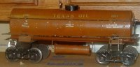 Ives Railway-Freight Wagons Texas oil tank car #190 with...