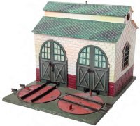Bing Railway-Engine Sheds Two-stand engine shed #14461/0...