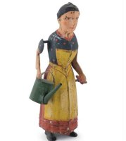 Guenthermann Tin-Figures Lady with watering can, wind-up...