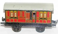 Bing Railway-Passenger Cars English baggage car #62/210...