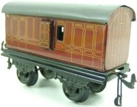 Bing Railway-Passenger Cars English uggage car #69793/0...