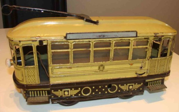 Guenthermann Tin-Trams Tram in beige and brown