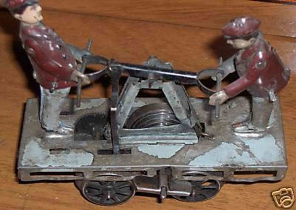 Guenthermann Railway-Draisine Draisine, handcart with clockwork and two men