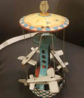 Krauss Wilhelm Tin-Carousels Carousel with 3 Junkers JU52...