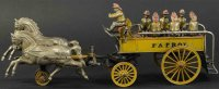 Ideal Toy Cast-Iron-Carriages Police patrol wagon,...