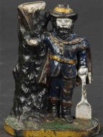 Reed Toy Co. Cast-Iron-Mechanical Banks Captain Kidd...