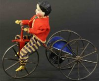 Stevens & Brown Tin-Figures Boy on velocipede, Arthur...