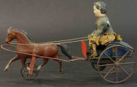 Brown George Tin-Carriages White boy in horse cart,...