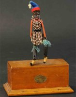 Automatic Toy Works Wood-Figures Dancing monkey with...