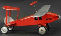 Keystone Tin-pedal cars Ride-on airplane in red and...