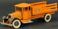 Kingsbury toys Tin-Trucks Large motor driven stake truck...