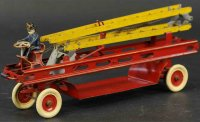 Kingsbury toys Tin-Fire-Truck Aerial ladder truck in red...