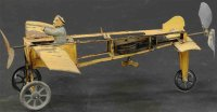 Orobr Tine Ariplanes Pusher plane in Bleriot style, made...